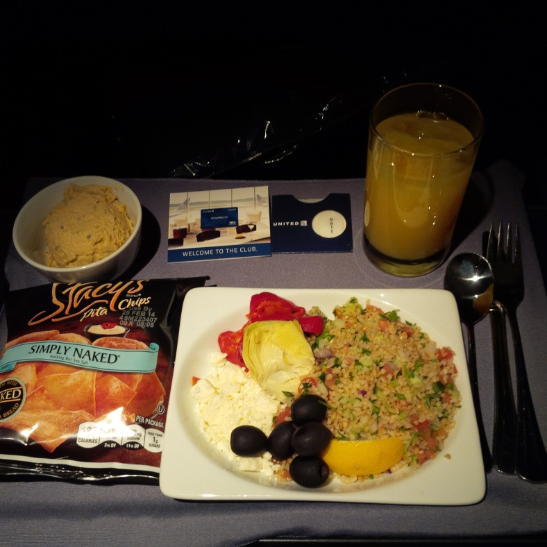 UA 1540 SFO-IAH First Class Late Night Meal